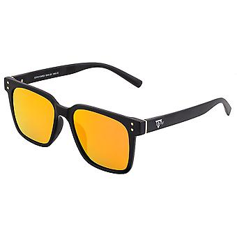 Sixty One Capri Polarized Sunglasses - Black/Red-Yellow