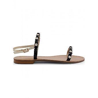 Versace Jeans - Schuhe - Sandalette - VRBS52_899_NERO - Damen - black,gold - 36