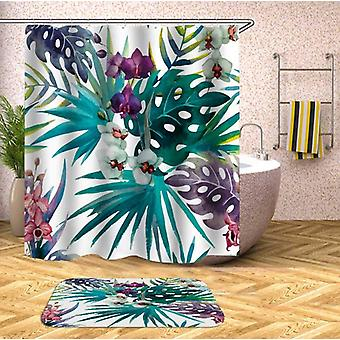 Colorful Tropical Leaves Shower Curtain