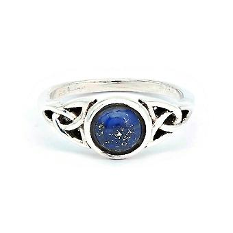 Ring Silver 925 Sterling Silver Lapis Lazuli Blue Stone (Nr: IRM 179)