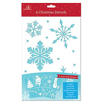 Festive Wonderland Christmas Stencils (Pack of 6)