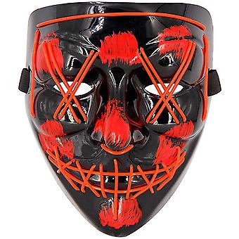 Halloween Scary Mask Cosplay Led Costume Mask Wire Light Up