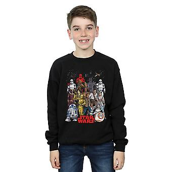 Star Wars Boys The Rise Of Skywalker Character Collage Sweatshirt