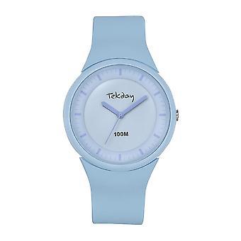 Tekday 654627 Watch - Silicone Blue Box Bracelet Silicone Blue Women