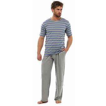 Męska koszulka w paski Top & długie spodnie piżamy salon zużycie