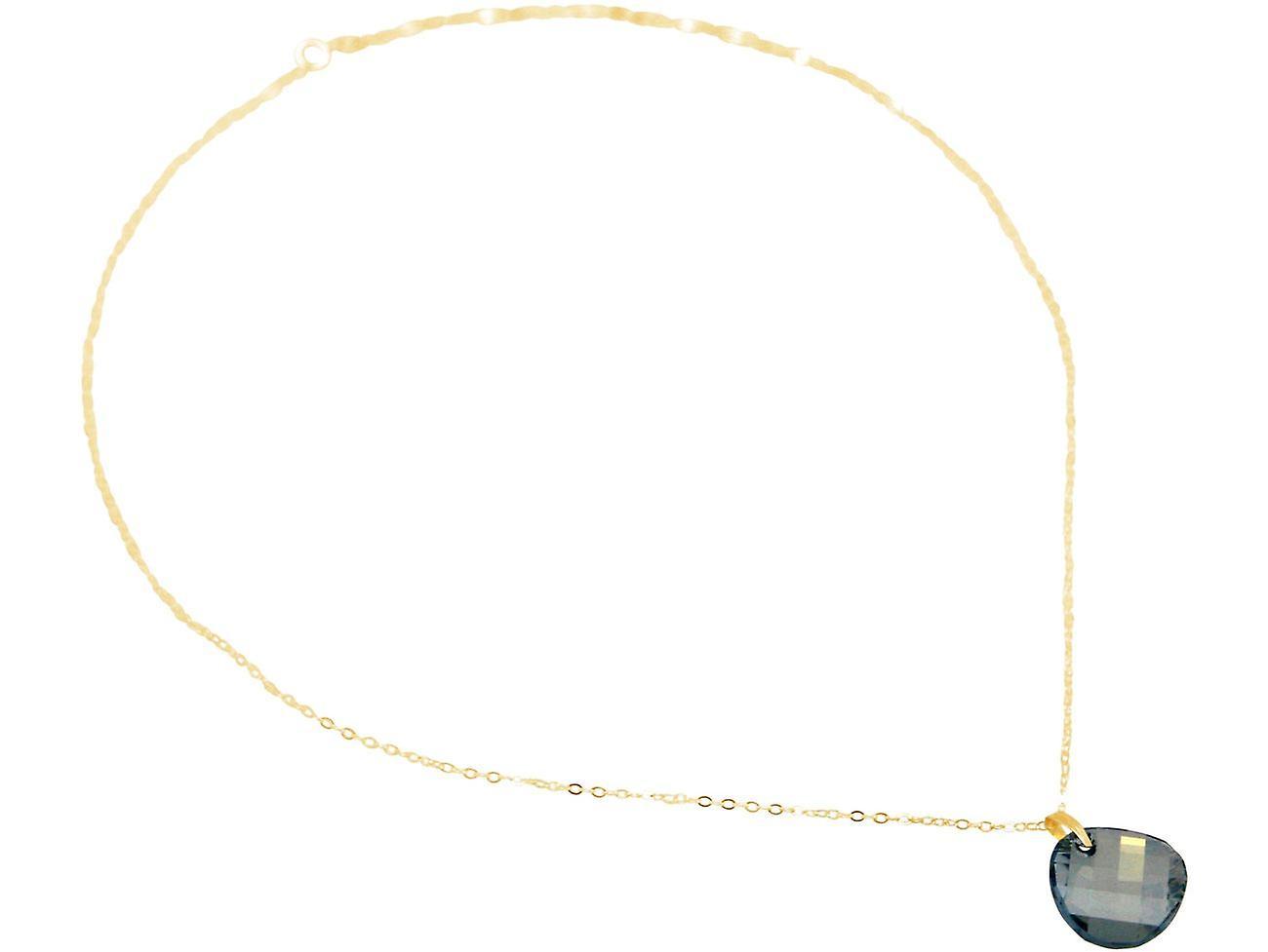 Gemshine Kette Aqua TWIST Anhänger 925 Silber oder vergoldet SWAROVSKI ELEMENTS