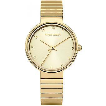 Karen Millen KM131GM - watch steel gold woman