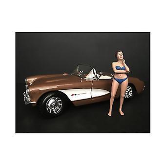 Dezember Bikini Kalender Mädchen Figur für 1/24 Skala Modelle von Amerikanischen Diorama