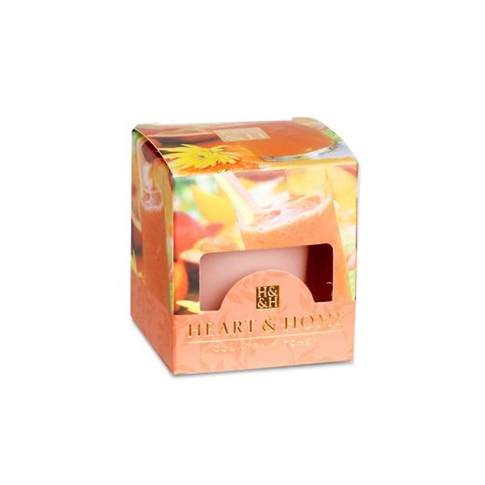 Heart & Home Votive Candle Peach Mango Smoothie