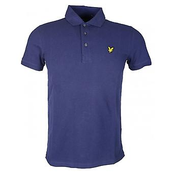 Lyle & Scott Short Sleeve Side Stripe Navy Polo