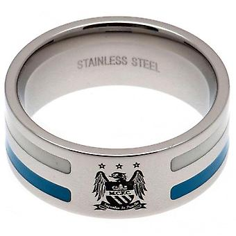 Manchester City FC Colour Stripe Ring