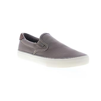 Lugz Clipper  Mens Gray Canvas Slip On Sneakers Shoes
