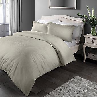 Damask Jacquard Taupe Bedding Set