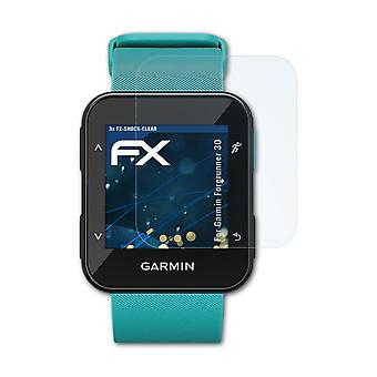 atFoliX Glass Protector compatible with Garmin Forerunner 30 Glass Protective Film 9H Hybrid-Glass