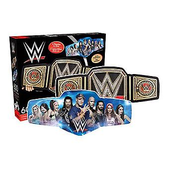 Wwe belt 600pc double sided puzzle