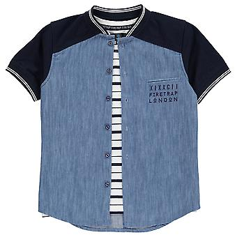 Firetrap Kids 2 Piece Shirt Boys Short Sleeve Crew Neck Casual Shirt