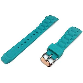 Authentic ice watch strap turquoise with stainless steel buckle sizes 17mm, 20mm and 22mm