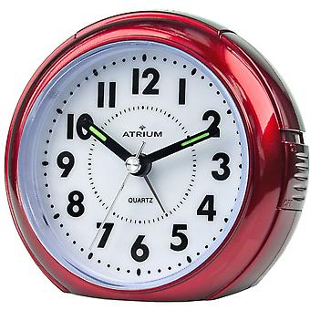 ATRIUM Alarm Clock Analog Quartz Red A240-1 without ticking with light large numbers