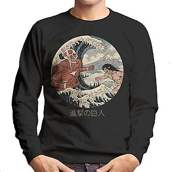 The Great Titans Attack On Titan The Great Wave Men's Sweatshirt