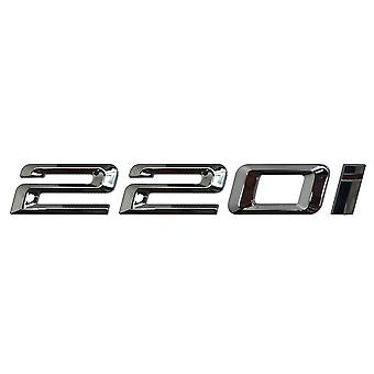 Silver Chrome BMW 220i Car Model Rear Boot Number Letter Sticker Decal Badge Emblem For 2 Series F22 F45 F46