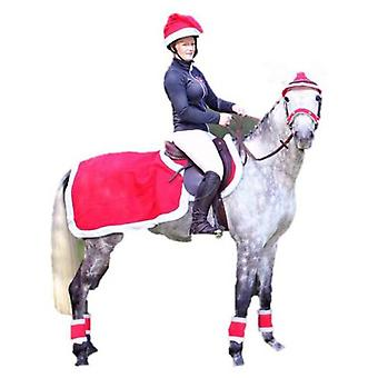 QHP Red Christmas Cap (Horses , Rider equipment , Accessories , Hats and caps)