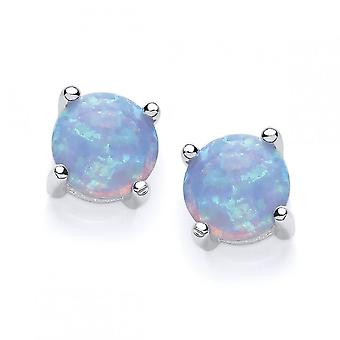 David Deyong Sterling Silver Blue Opal Stud Earrings