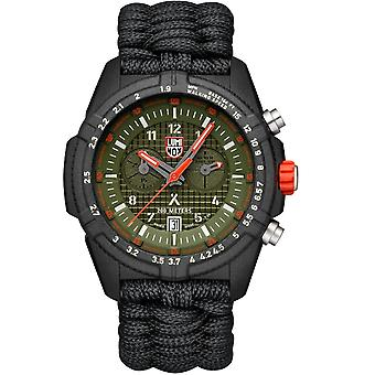 Luminox x Bear Grylls Survival LAND 3780 Series Quartz Green Dial Nylon Strap Men-apos;s Watch XB.3797.KM
