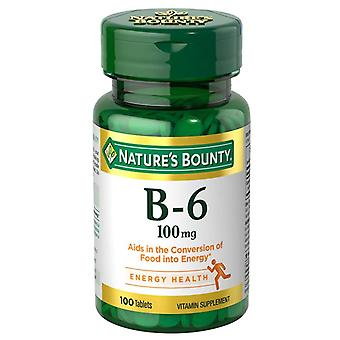 Nature's bounty vitamine b-2, 100 mg, tabletten, 100 ea