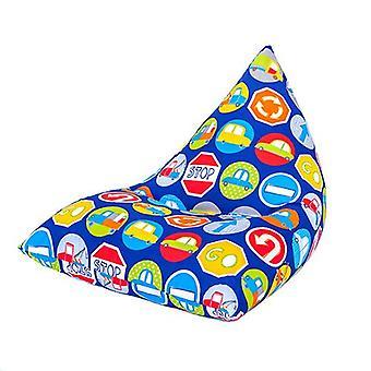 Klaar Steady Bed Kids Kinderen Piramide Vormige Bean Bag | Comfortabele peutermeubels | Soft Child Safe Lounger Seat Playroom (Savannah)