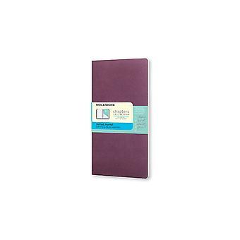 Moleskine chapter journals slim pocket dotted-  plum purple