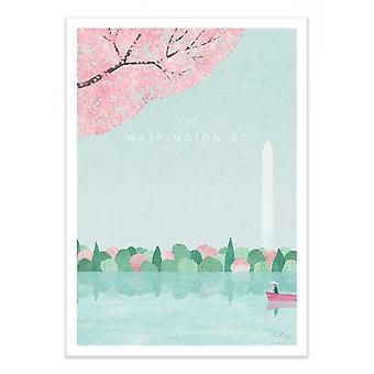 Art-Poster - Visit Washington DC - Henry Rivers