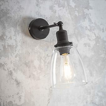 Garden Trading Hoxton Domed Glass Wall Light In Antique Bronze