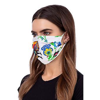 Máscara facial com perfil lavável - branca com figuras