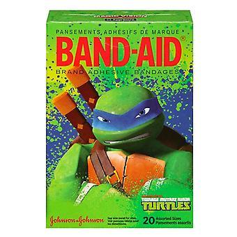 Band-Aid teenage mutant ninjas skilpadder bandasjer, forskjellige størrelser, 20 ea
