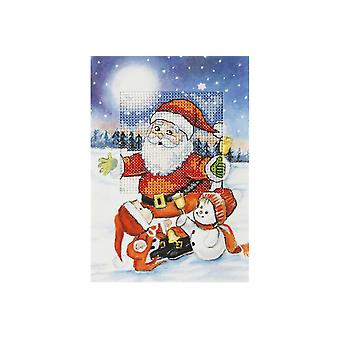 Orchidea Cross Stitch Card Kit - Santa and Friends