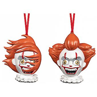 It (2017) Pennywise Christmas Ornament 2-pack