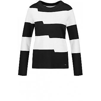 Taifun Black & White Stripe Jumper