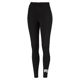 Puma Essential No.1 Logo Womens Ladies Sports Fitness Legging Black