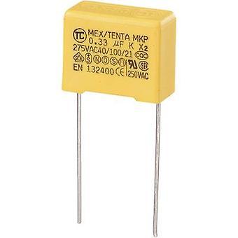 TRU COMPONENTS MKP-X2 1 pc(s) Condensateur de suppression MKP-X2 Plomb radial 0,33 μF 275 V AC 10 % 15 mm (L x W x H) 18 x 8,5 x 14,5 mm