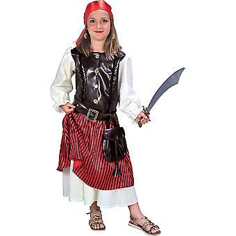 Edel Piratenmädchen Kinder Kostüm Mädchen Piratin Karneval