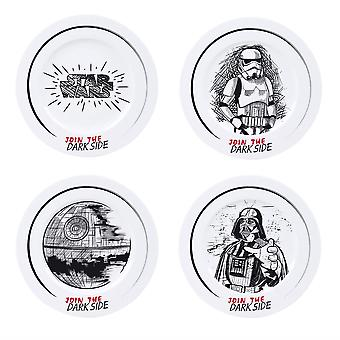 Star Wars Join the Dark Side 4 Stück Dinner Plate Set