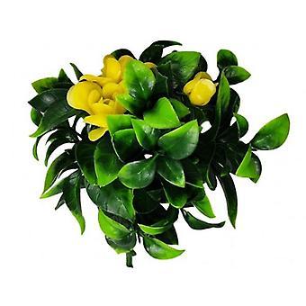 Flowering Yellow Rose Stem Uv Resistant 30 Cm
