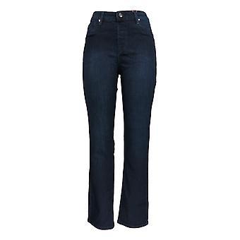 Laurie Filz Frauen's Jeans w / schlanke Seufelf & elastische Bund dunkel blau A346615