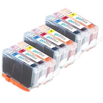 3 yhteensopivaa sarjaa 3 C/M/Y Canon CLI-8 -tulostimen mustekasetteja (värisarja)