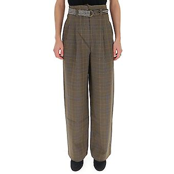 Semi-couture Y9ai21var10 Women's Multicolor Polyester Pants