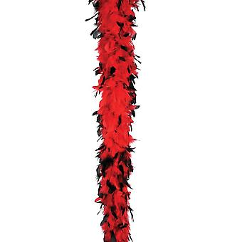 Boa Feather 40 Red W Blk Tips