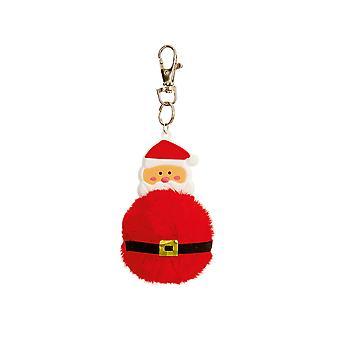 Santa Pom Pom Keyring Cracker Filler Gift