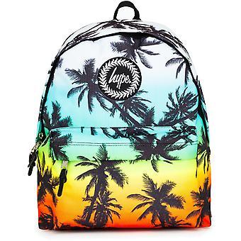 Hype Palm Tree Fade Backpack Bag Blue 94