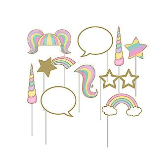 Unicorn Sparkle Photo Booth Props voor Kids Fairytale Parties