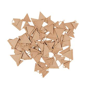 Mini Kraft Paper Garland Pennant Bunting for Adults Crafts - 2.7m